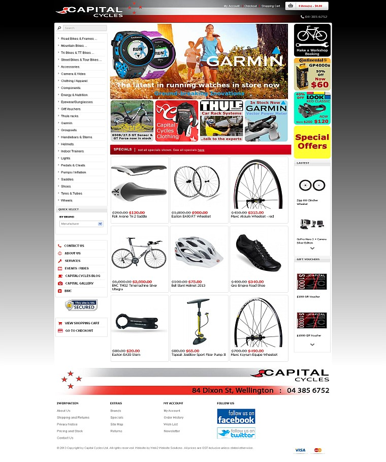 Client Project - Capital Cycles Website